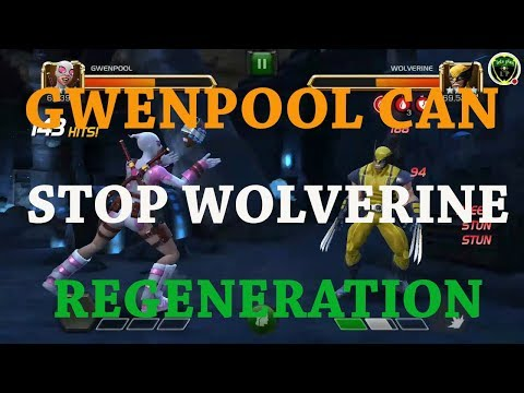 how to beat wolverine in ROL(using gwenpool) marvel contest of champion