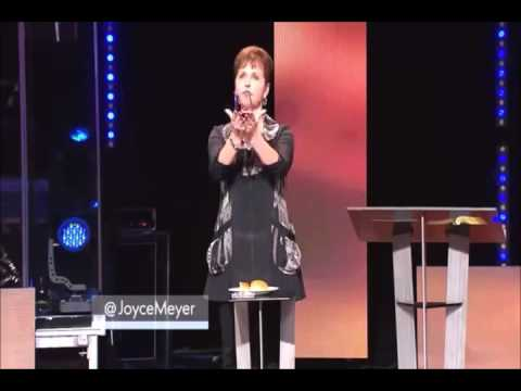 """Taking Communion"" at home with ""Joyce Meyers""."