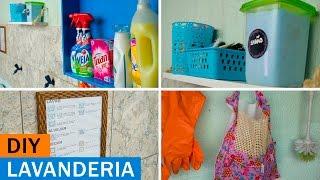 Ideias FÁCEIS e BARATAS de decoração e organização para a LAVANDERIA