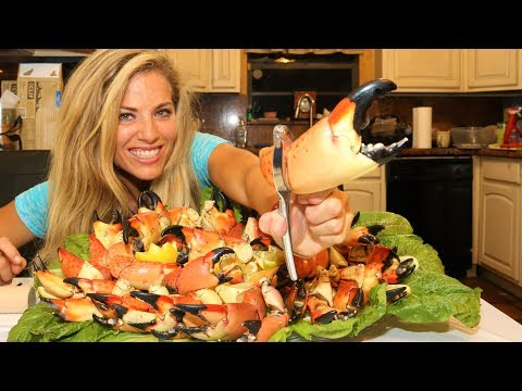 STONE CRAB Claws! CATCHING, CLEANING, COOKING!