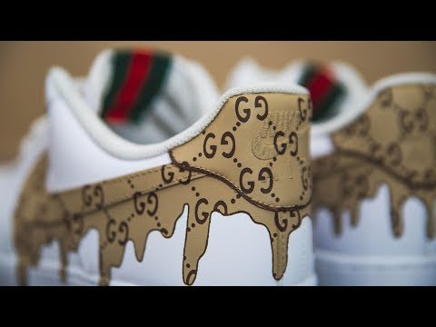 GUCCI DRIP CUSTOM TUTORIAL (We're GIVING these away!)