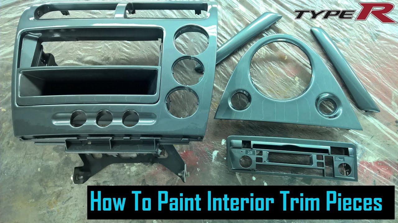 Painting Plastic Interior Trim Type R