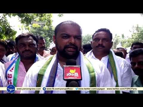Allagadda YSRCP Leader Gangula Brijender Reddy conducts sanghibhava Paadayatra on day 3