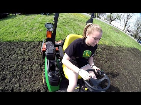 Compact Tractor, King Kutter XB - Full Day of Tilling Gardens - Tillathon 2017