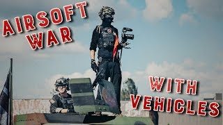 ATTACKING Airsoft PLAYERS from in game HUMVEE !!!