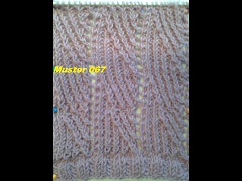 Muster m.Verkreuzte Maschen 067*Stricken lernen*Muster für Pullover Strickjacke Mütze*Tutorial