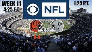 2019 NFL Season - Week 11 - (Prediction) - Bengals at Raiders