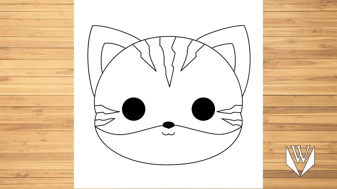 wie zeichnet man niedlich katze gesicht | schritt für