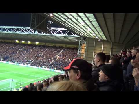 """""""Oh What a Night """" Superb Manchester United Song by the Red Army at Deepdale 16.02.15"""