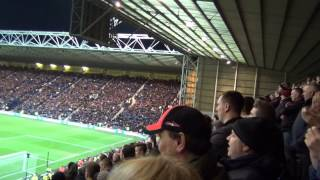 """Oh What a Night "" Superb Manchester United Song by the Red Army at Deepdale 16.02.15"