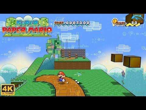 Super Paper Mario - Wii Gameplay 4k 2160p (DOLPHIN)