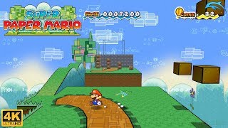 Super Paper Mario - Wii Gameplay 4k 2160p (DOLPHIN)