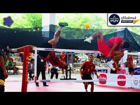 ตะกร้อทีมชุดชาย รอบแรก   นครปฐม พบ ปทุมธานี   กีฬาเยาวชนแห่งชาติ ครั้งที่ 35 [ไฮไลท์]
