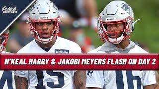 N'Keal Harry & Jakobi Meyers FLASH At Practice