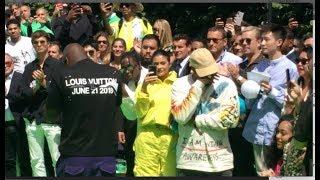 kanye west gets emotional as he congratulates new louis vuitton designer virgil abloh
