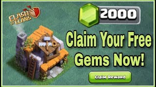 HOW TO GET/CLAIM 2000 GEMS FOR FREE IN CLASH OF CLANS | EASIEST ACHIEVEMENTS | HINDI