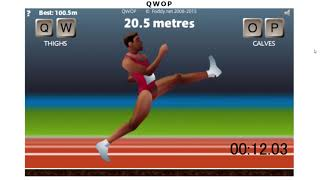 QWOP speedrun 45.890sec