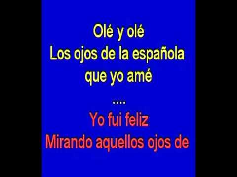 Los Ojos De La Española Karaoke Tony Ginzo Youtube