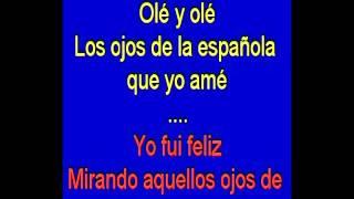 los ojos de la española - karaoke TONY GINZO