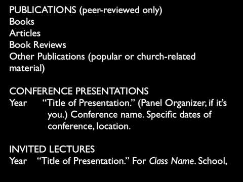 PhD Level CVs for Academic Positions