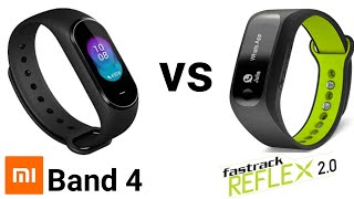 Mi Band 4 vs Fastrack reflex 2.0 || Detailed full Comparison