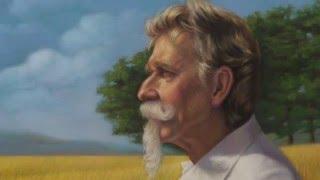 Portrait of Frank - Man in  Golden Field - Pastel