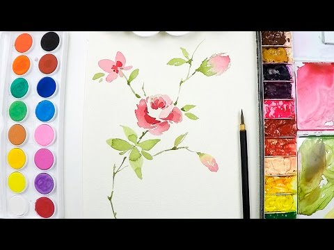 try these loose watercolor techniques for backgrounds doovi