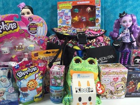 Moofia Beanie Boos Donutella Moshi Monster Shopkins Plush Surprise Tokidoki Backpack Unboxing