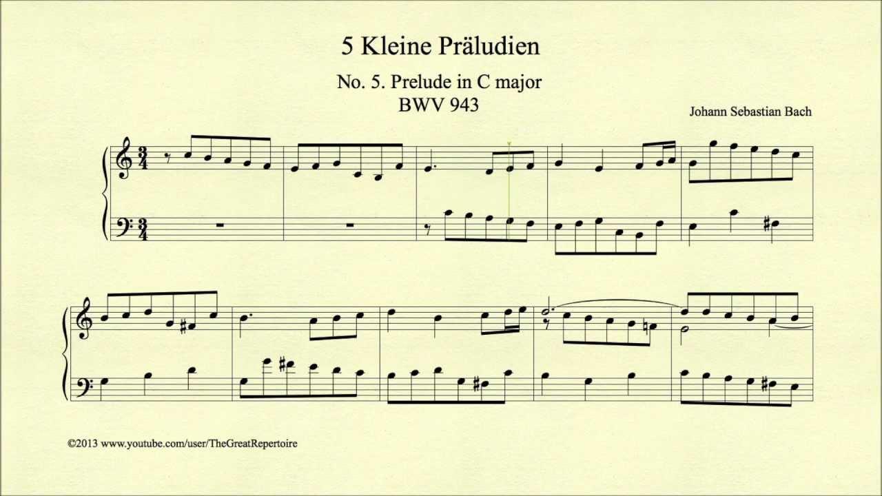 bach prelude in c major pdf