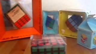 vintage rare rubik s cube and pyraminx