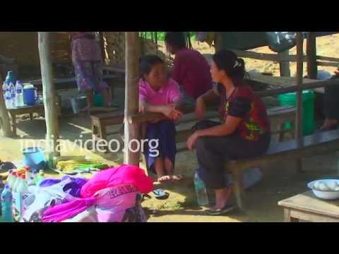 Weekly market at New Jalukie Village, Nagaland