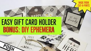 ⭐️BEST DIY GIFT CARD WALLET EVER⭐️Easy DIY Gift Card Wallet/ Fun Stocking Stuffer/USE THE WHOLE PAD