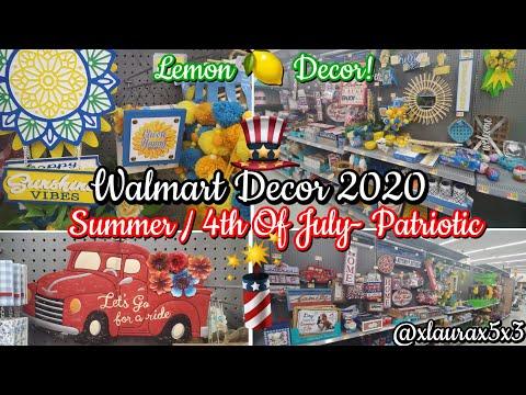 New! Walmart LEMON Summer Decor 2020   4th Of July - Patriotic Decor 2020