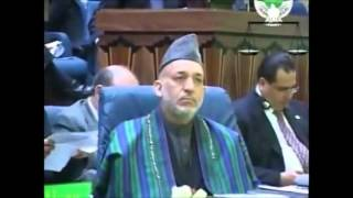 karzai talking about ghazal sadat and valy hejazi