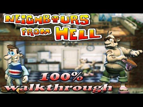 Neighbours From Hell 1 - ALL Seasons [100% Walkthrough]