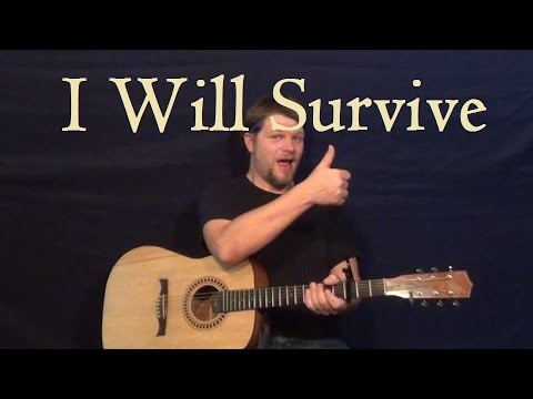 I Will Survive (GLORIA GAYNOR) Easy Guitar Lesson Strum How to Play