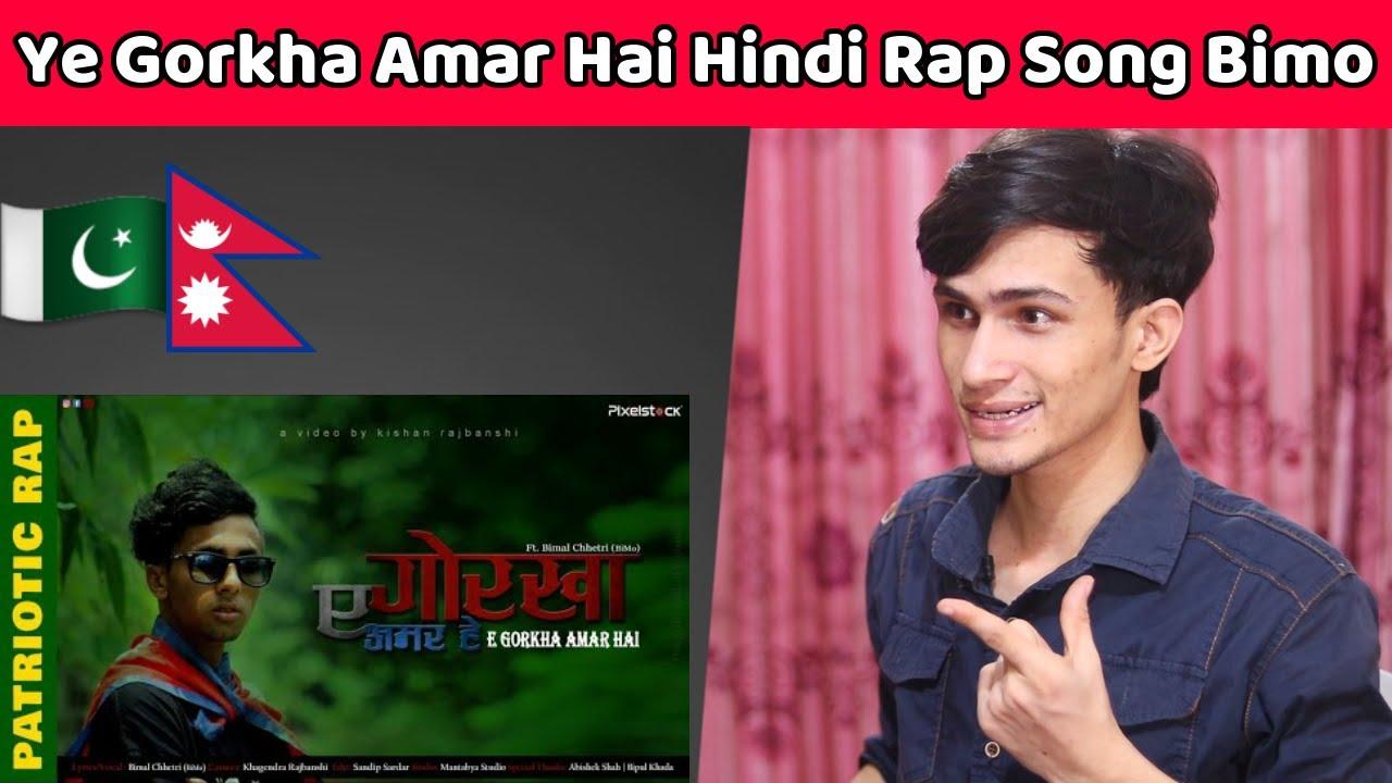 Pakistani Reaction Ye Gorkha Amar Hai | Hindi Rap Song| Bimo  Nepali Song Reaction