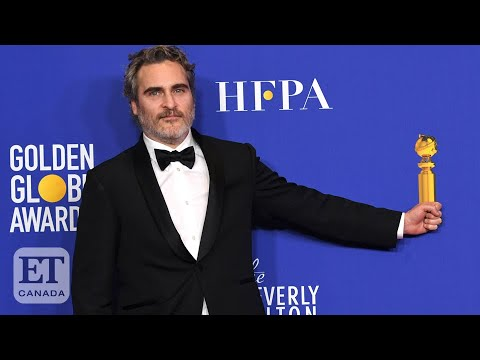 Joaquin Phoenix Backstage At Golden Globes After 'Joker' Win | FULL SPEECH