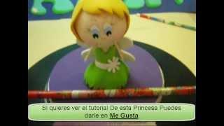FOFULAPICES PRINCESAS DISNEY CAMPANITA FOAMY O GOMAEVA PARA FIESTAS INFANTILES