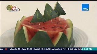 مطبخ 10/10 - Matbakh 10/10 - الشيف أيمن عفيفي - الشيف حسين ابو عيسى - تقديم البطيخ بطريقة مختلفة