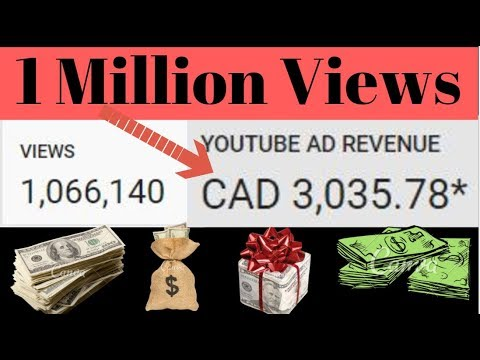 How much Money do you get for 1 Million Views on YouTube