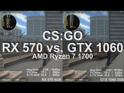 Cs Go Amd Radeon Rx 570 Vs Nvidia Geforce Gtx 1060 Gameplay