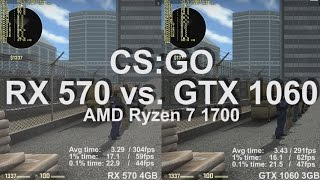 Video CS:GO AMD Radeon RX 570 vs. Nvidia GeForce GTX 1060 Gameplay Benchmark Frame-rate test & Frame times download MP3, 3GP, MP4, WEBM, AVI, FLV Februari 2018