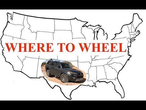 Where to Offroad - East Coast vs West Coast vs Central US - JN34
