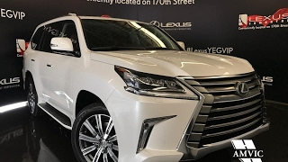 2017 White Lexus LX 570 4WD Executive Walkaround Review | Downtown Edmonton Alberta