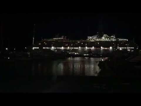 Sun Princess sails away out of Cairns Trinity Inlet