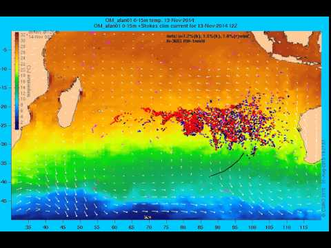 MH370: Drift modelling by CSIRO