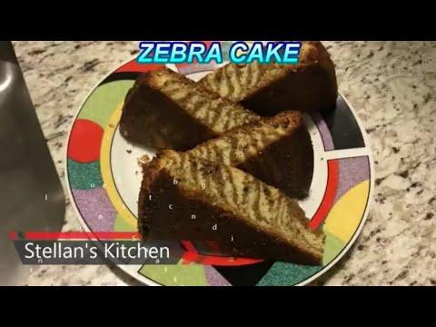 How To Make A Zebra Cake | Zebra Cake | Zebra Cake Recipe |Cake | Stellan's Kitchen