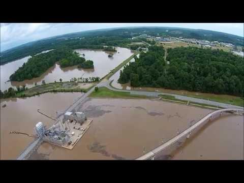 Arkansas River Flooding at Big Dam Bridge - May 28, 2015