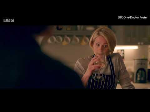 Doctor Foster has a drink with Sian as they discuss their families   Daily Mail Online